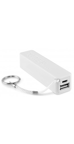 Batterie externe portable Power Bank 2600 mAh blanc