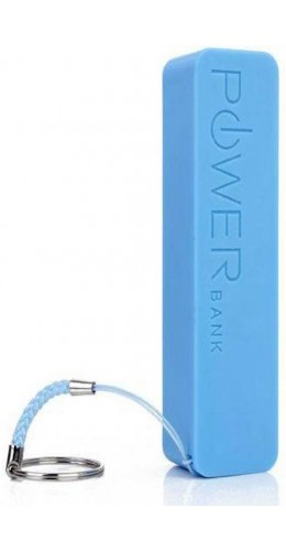 Batterie externe portable Power Bank 2600 mAh bleu