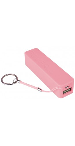 Batterie externe portable Power Bank 2600 mAh rose