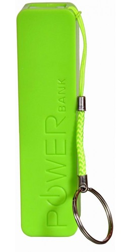 Batterie externe portable Power Bank 2600 mAh vert