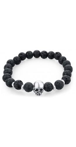 Bracelet Skullbowl volcano noir