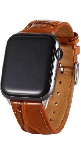Bracelet crocodile brun - Apple Watch 38mm / 40mm