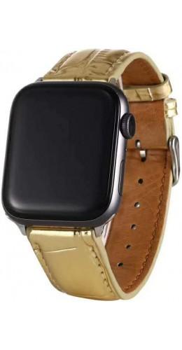 Bracelet crocodile or - Apple Watch 38mm / 40mm