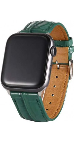 Bracelet crocodile vert - Apple Watch 38mm / 40mm
