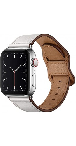Bracelet cuir  blanc - Apple Watch 38mm / 40mm