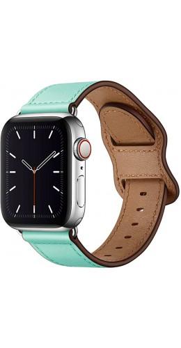 Bracelet cuir bleu clair - Apple Watch 38mm / 40mm