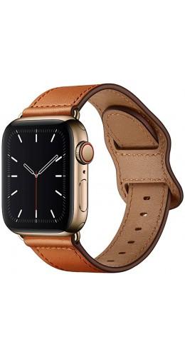 Bracelet cuir  brun clair - Apple Watch 38mm / 40mm