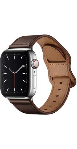Bracelet cuir  brun foncé - Apple Watch 38mm / 40mm