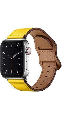 Bracelet cuir  jaune - Apple Watch 38mm / 40mm