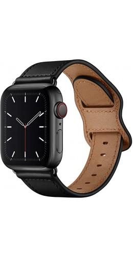 Bracelet cuir  noir - Apple Watch 38mm / 40mm