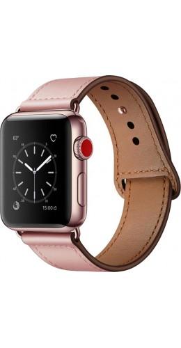 Bracelet cuir rose - Apple Watch 38mm / 40mm