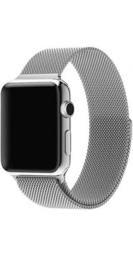Bracelet milanais en acier argent - Apple Watch 38mm / 40mm