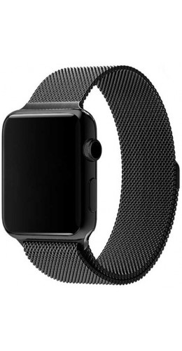 Bracelet milanais en acier noir - Apple Watch 42mm / 44mm