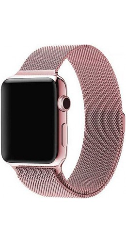 Bracelet milanais en acier rose - Apple Watch 42mm / 44mm