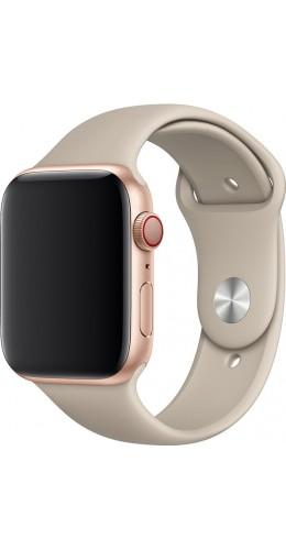 Bracelet sport en silicone beige - Apple Watch 38mm / 40mm