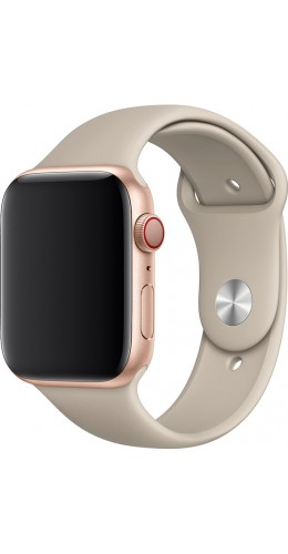 Bracelet sport en silicone beige - Apple Watch 42mm / 44mm