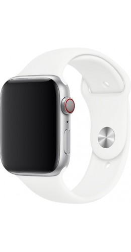Bracelet sport en silicone blanc - Apple Watch 38mm / 40mm