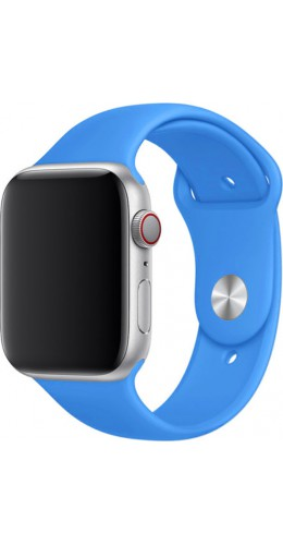 Bracelet sport en silicone bleu électrique - Apple Watch 42mm / 44mm