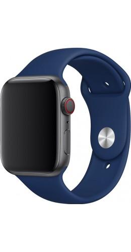 Bracelet sport en silicone bleu foncé - Apple Watch 42mm / 44mm