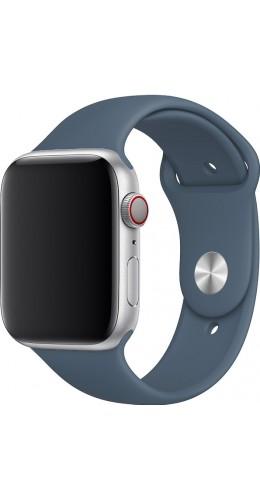 Bracelet sport en silicone bleu gris - Apple Watch 38mm / 40mm