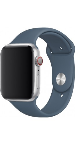 Bracelet sport en silicone bleu gris - Apple Watch 42mm / 44mm