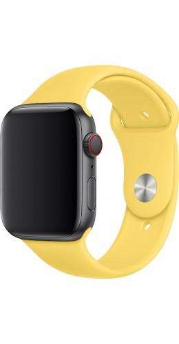 Bracelet sport en silicone jaune - Apple Watch 38mm / 40mm