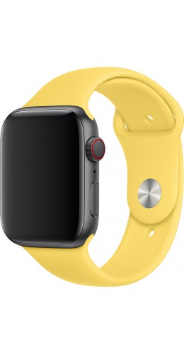 Bracelet sport en silicone jaune - Apple Watch 42mm / 44mm