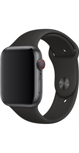 Bracelet sport en silicone noir - Apple Watch 42mm / 44mm