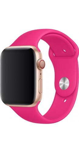 Bracelet sport en silicone rose fushia - Apple Watch 38mm / 40mm