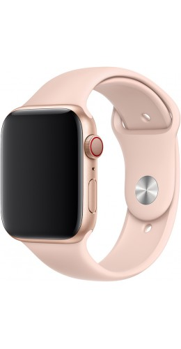 Bracelet sport en silicone rose clair - Apple Watch 42mm / 44mm