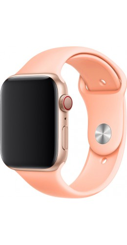 Bracelet sport en silicone rose pêche - Apple Watch 42mm / 44mm
