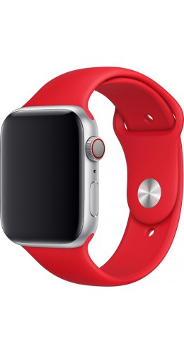 Bracelet sport en silicone rouge feu - Apple Watch 42mm / 44mm