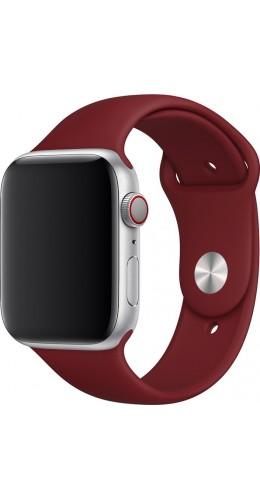 Bracelet sport en silicone rouge bordeau - Apple Watch 38mm / 40mm