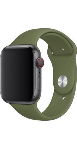 Bracelet sport en silicone vert kaki - Apple Watch 38mm / 40mm