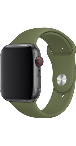 Bracelet sport en silicone vert kaki - Apple Watch 42mm / 44mm