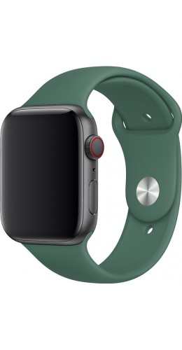 Bracelet sport en silicone vert pétrole- Apple Watch 42mm / 44mm
