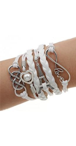 Bracelet sweet Tour Eiffel blanc
