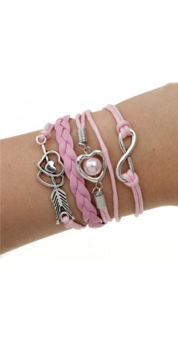 Bracelet sweet coeur rose