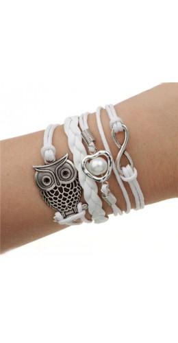 Bracelet sweet owl blanc