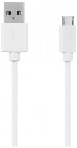 Câble (30cm) USB vers Micro USB blanc