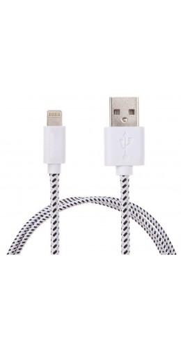 Câble Lightning corde blanc iPhone