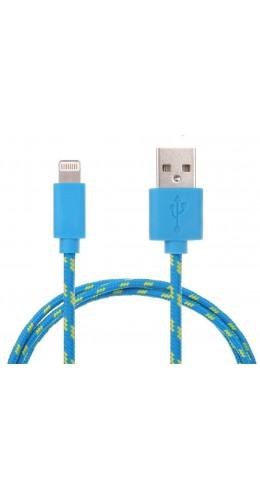 Câble Lightning corde bleu iPhone
