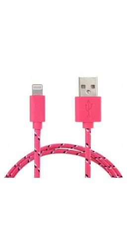 Câble Lightning corde rose iPhone