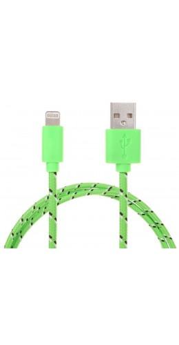 Câble Lightning corde vert iPhone