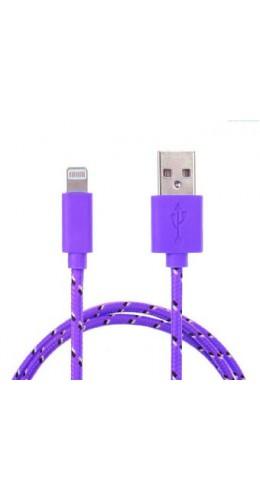 Câble Lightning corde violet iPhone