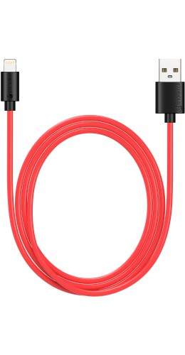 Câble Lightning iPhone USB (1 m) - PhoneLook noir/rouge