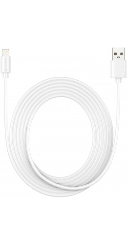 Câble Lightning iPhone USB (3 m) - PhoneLook blanc