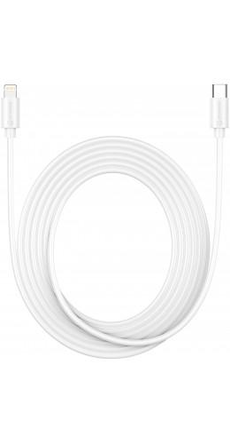 Câble USB-C vers Lightning iPhone USB (3 m) - PhoneLook blanc