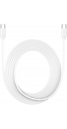 Câble USB-C vers USB-C (3 m) - PhoneLook blanc