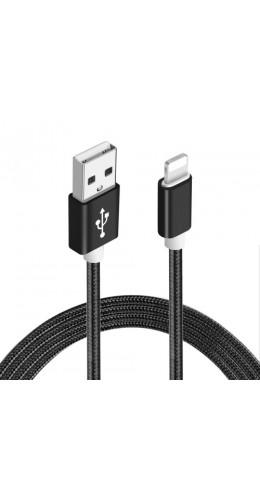 Câble Micro USB Nylon metal noir